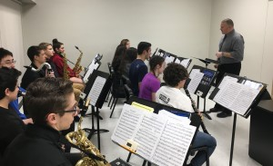 Mr. Greg Mulford leads Saxophones and Clarinets at Monday night's Sectionals