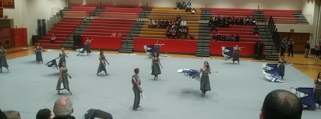 Winter Guard Places 2nd at Hillsborough Competition