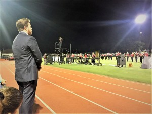 Mr. Fabrizio watches from the sidelines as the Knights impress