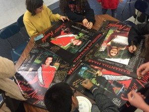 Senior posters are signed, reflecting the closeness of the Marching Knights