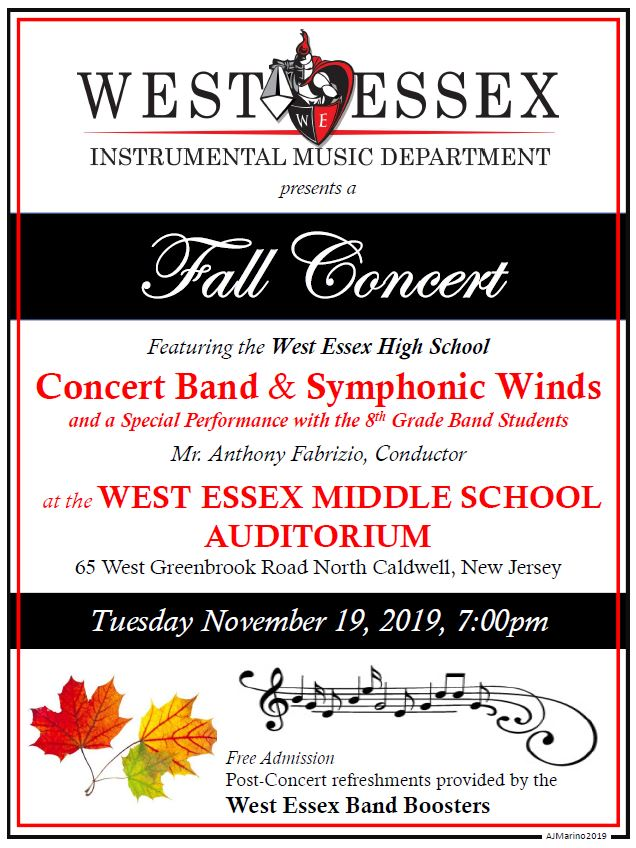 WEHS 2019 Fall Concert Poster 8x11 v3