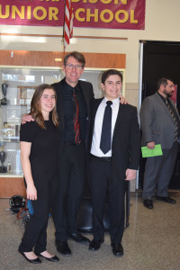 Left to Right: Gianna Lodato, Conductor Mr. Rick Fitzke, Dante Ragusa