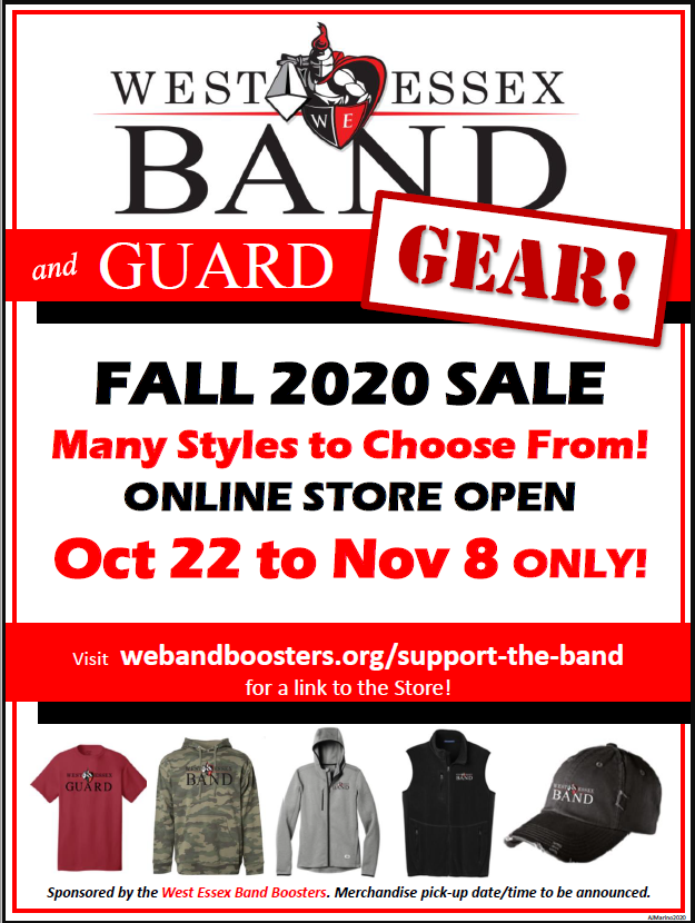 Fall 2020 On Line Store Flyer
