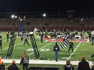 Marching Knights perform at half-time on Senior Night